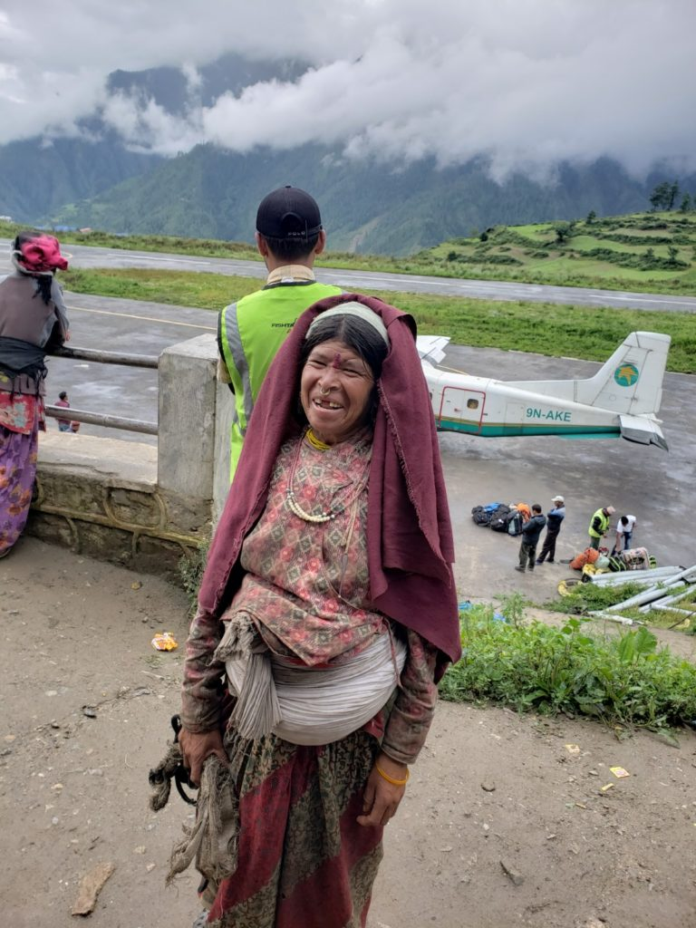 a local Nepalese lady at Simikot