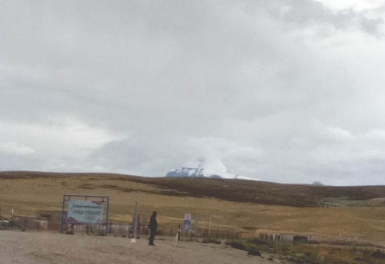 The first glimpse of Mount Kailash from mansarovar lake