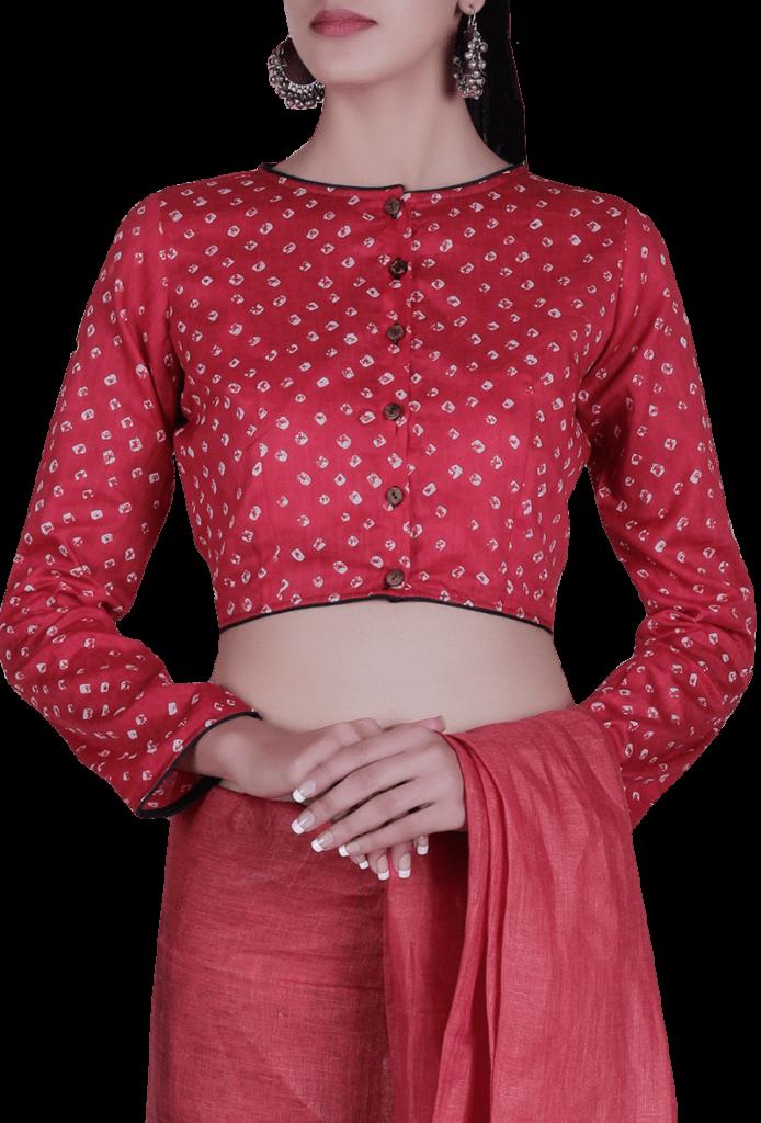 bandhani blouse