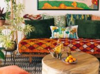 bohemian living room,lifestyle