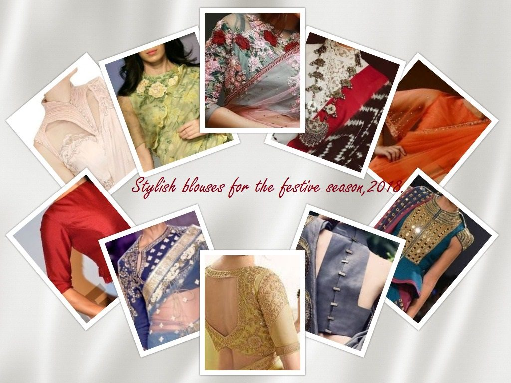 stylish blouses for the festive season,2018