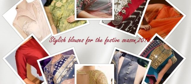stylish blouses for the festive season,2018