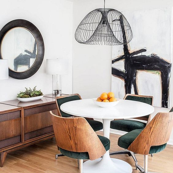 dining table with chairs, lifestyle
