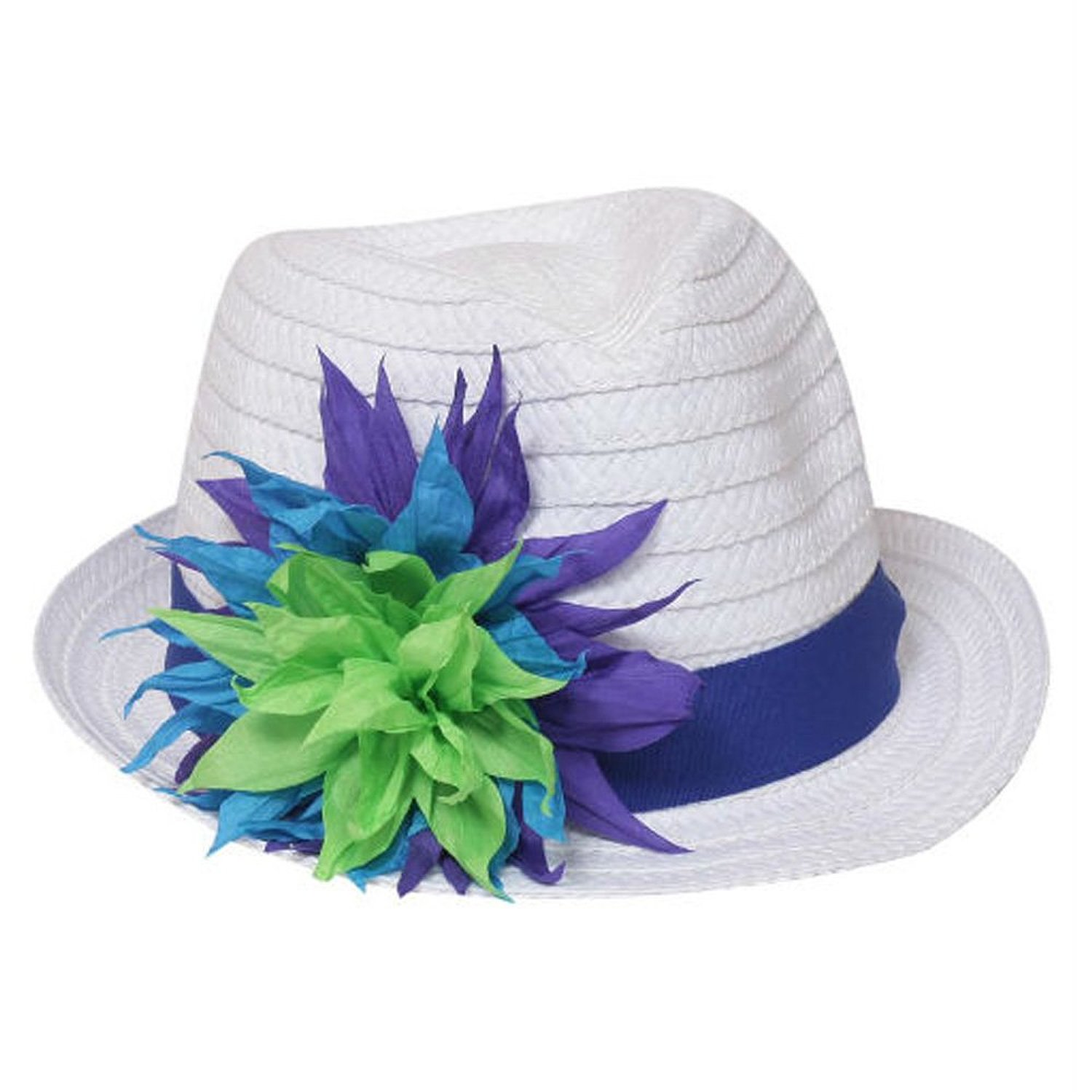 Port Classic Paper Straw Summer Sun Flower Fedora