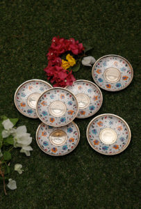 Brass Hand Painted Plates
