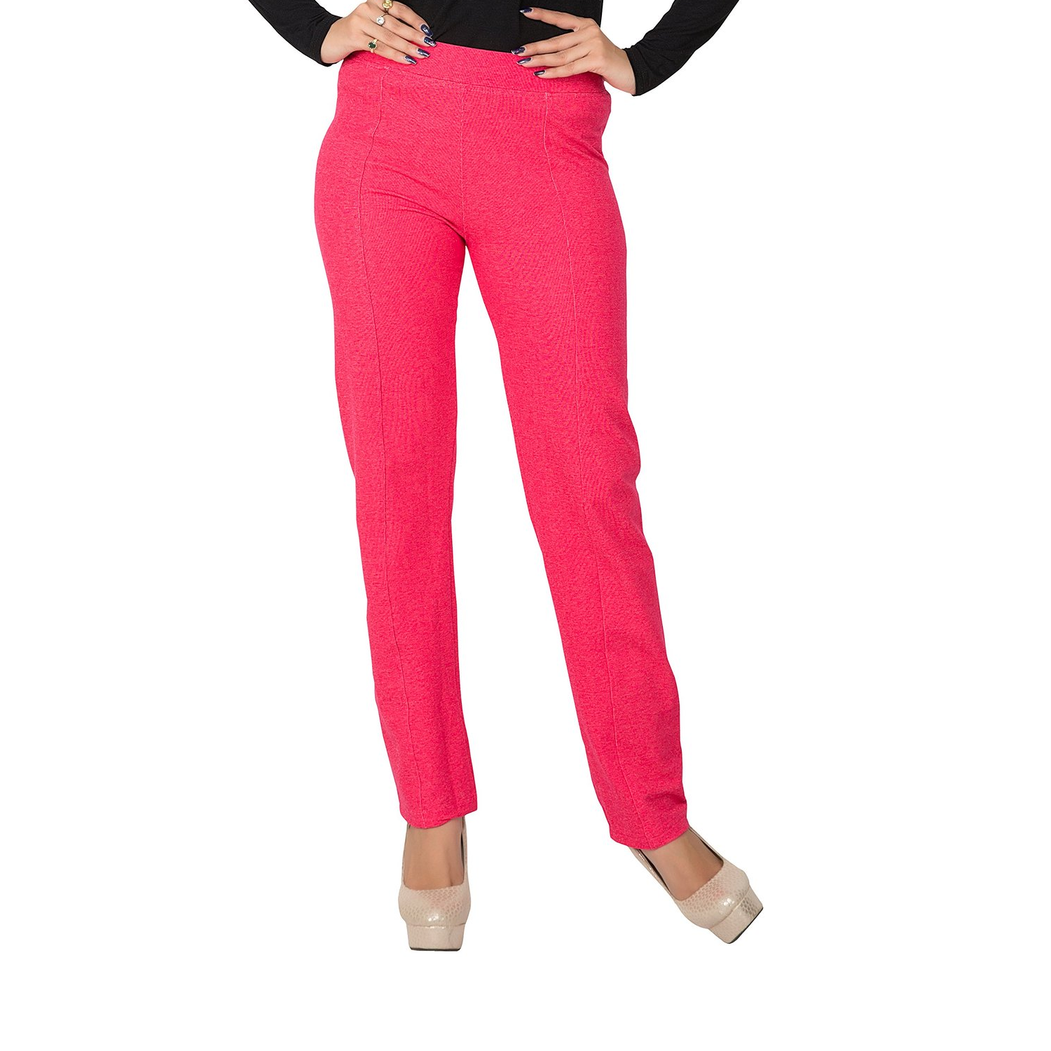 Hbhwear Womens Denim Treggings - Fuschia Pink